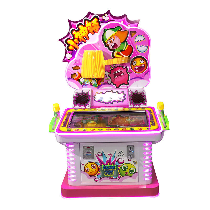 Ticket Redemption Hammer Arcade Game Machine For Kids 1 Player 100 Kgs Weight